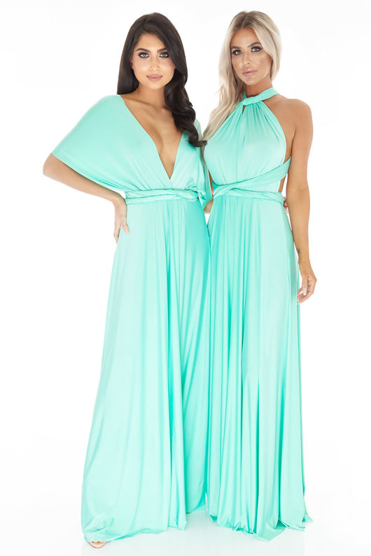 Multiway Dress In Pastel Mint