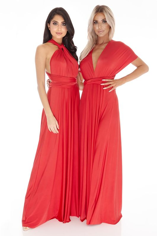 Multiway Dress In Red