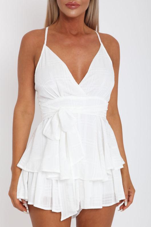 Nancy Playsuit in White