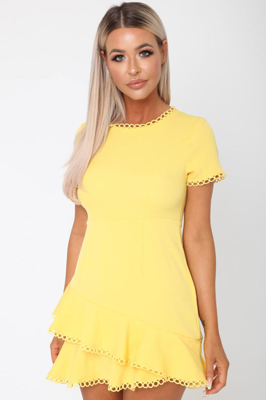Sunburst Yellow Mini Dress