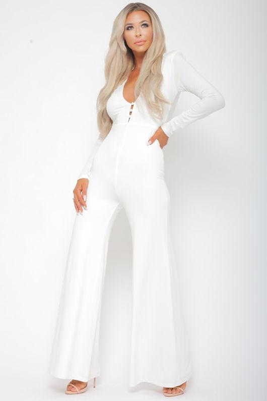 Tona White Jumpsuit