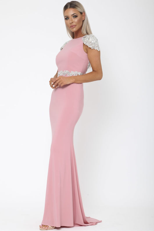 Una Long Gown in Blush