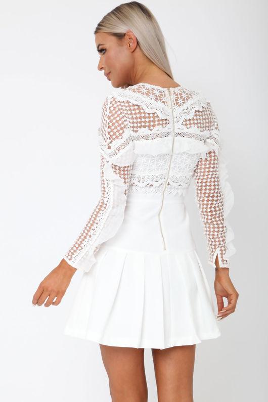 Gloria Long Sleeve Lace Mini Dress