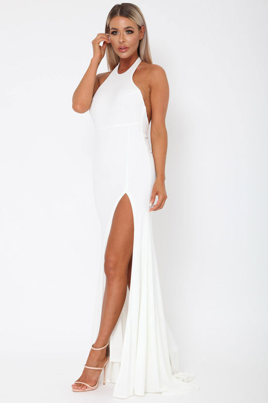 Amara Long Gown in Ivory