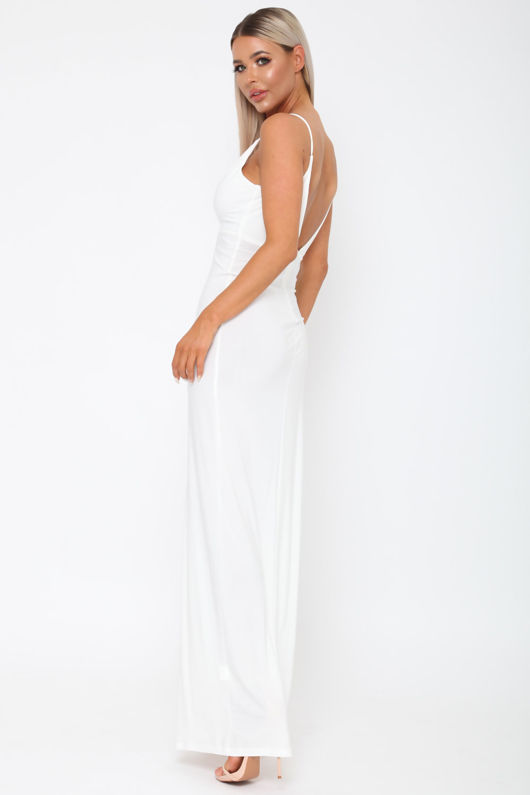 Belinda Long Dress in Ivory