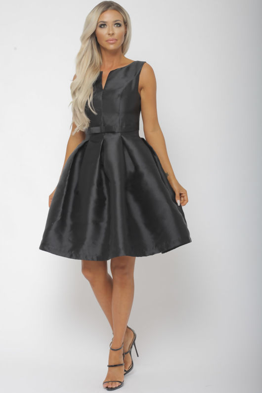Bow Mini Dress in Black