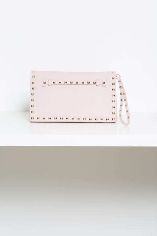 Gift Set - Angelina Studded Heels in Pink Gloss & Matching Clutch