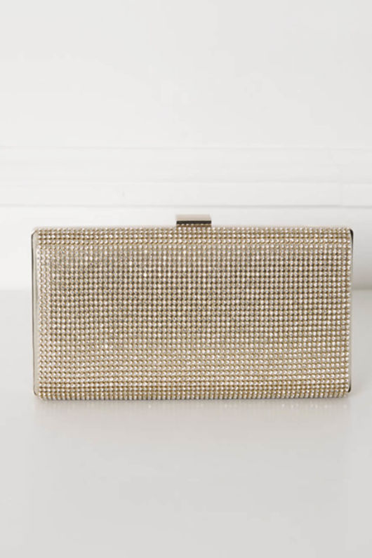 Glitz Clutch Bag in Gold