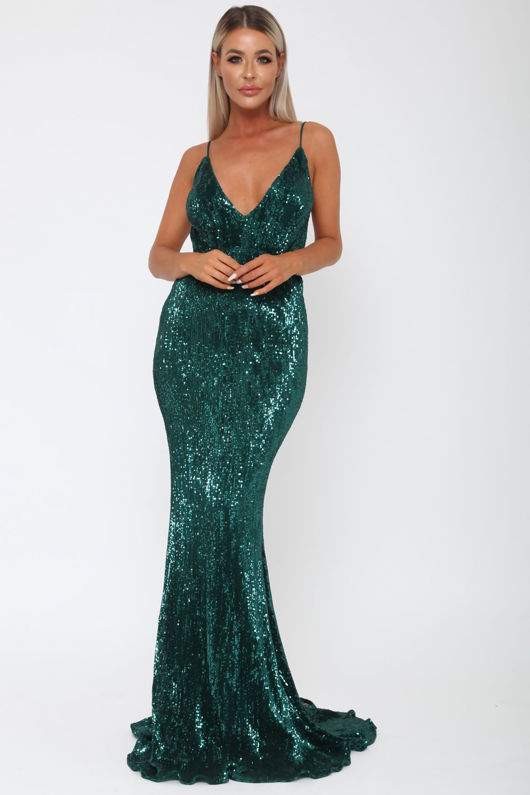 Khan Long Gown in Green