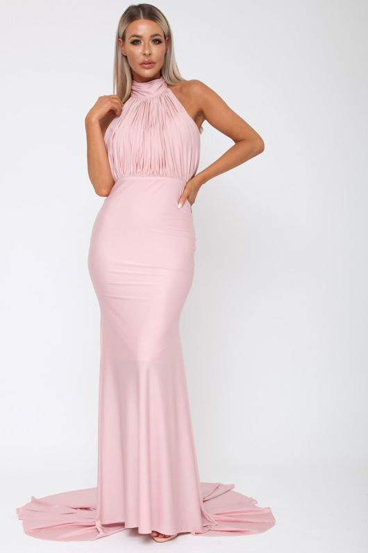 Suzanne Halter Gown in Blush