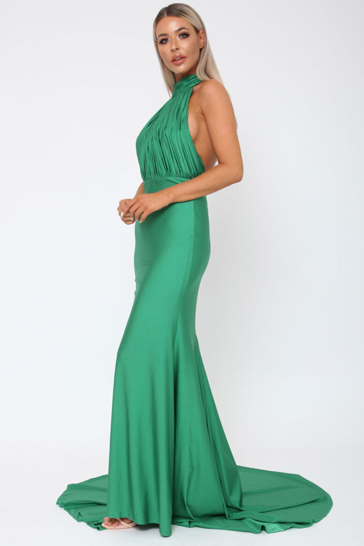 Suzanne Halter Gown in Emerald Green