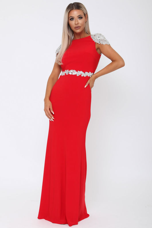 Una Long Gown in Red