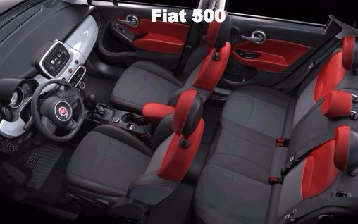 Fiat 500 Convertible, one of the choices for the car you rent