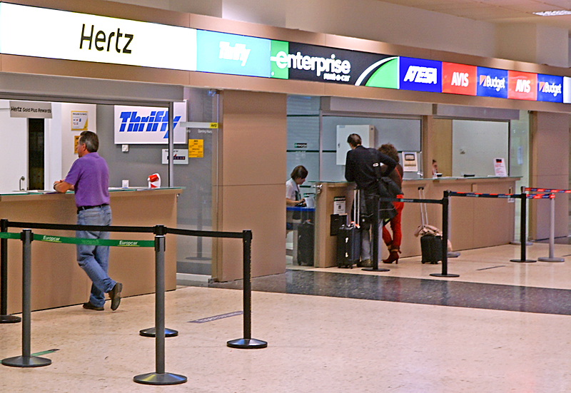 Rent a car at airport