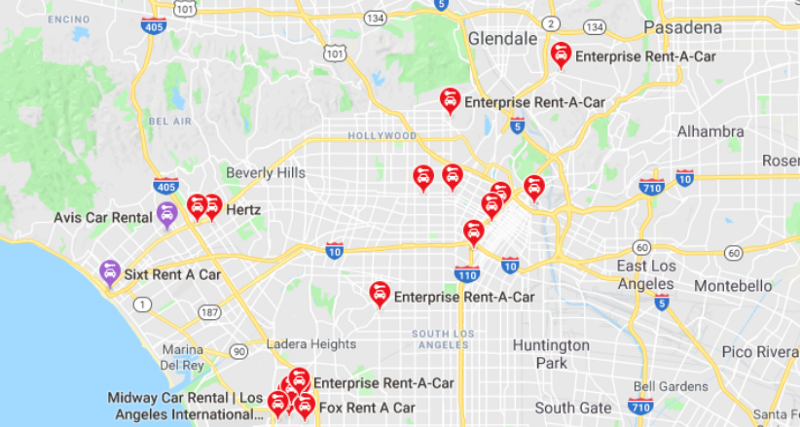 How to Find a Car Rental Near Me and Get the Best Deal Car Rental Map on foreclosure map, charter map, rehab map, golf map, exchange map, performance map, information map, marine map, government map, contact us map, wedding map,
