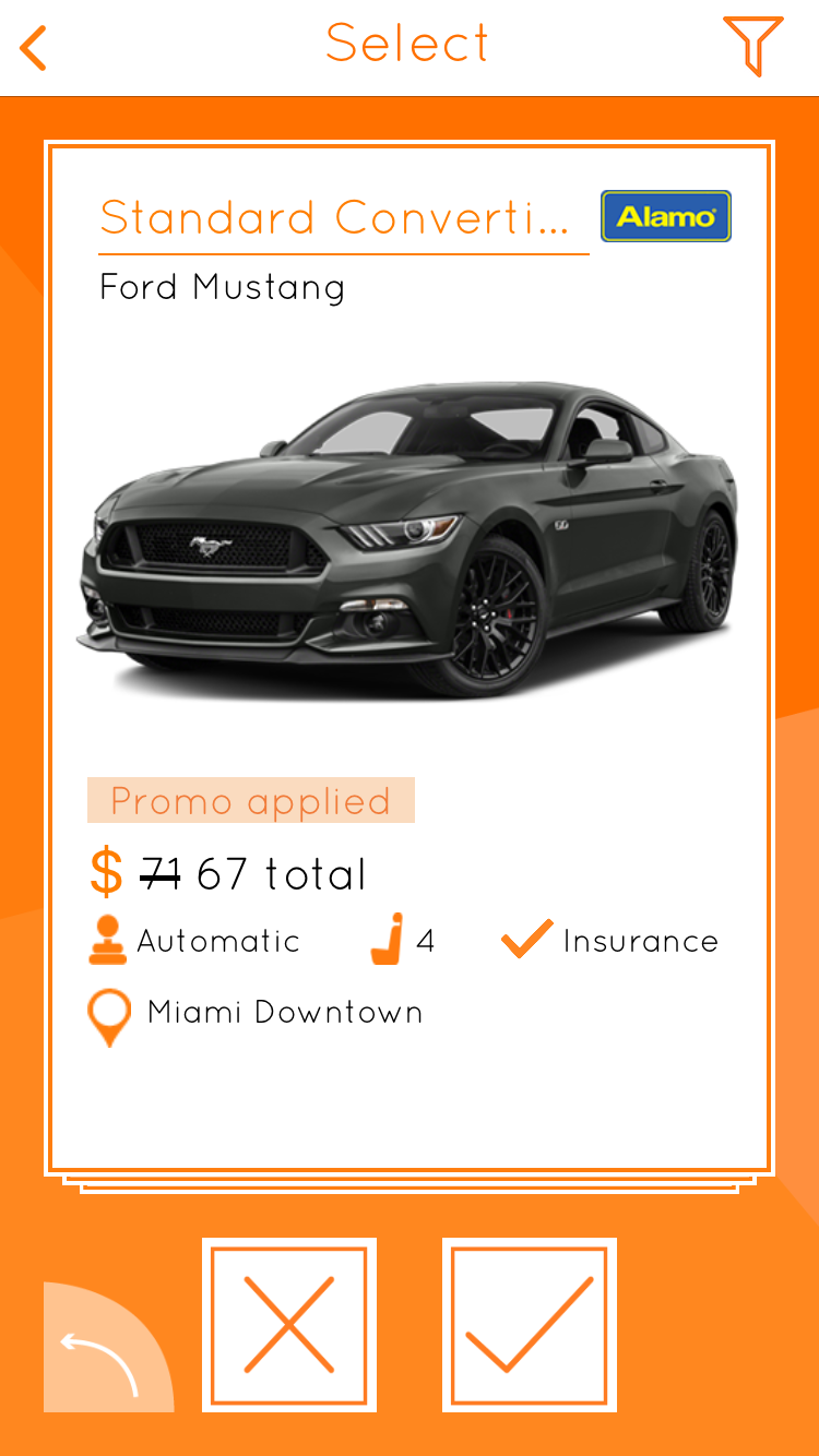 Carla App, Ford Mustang