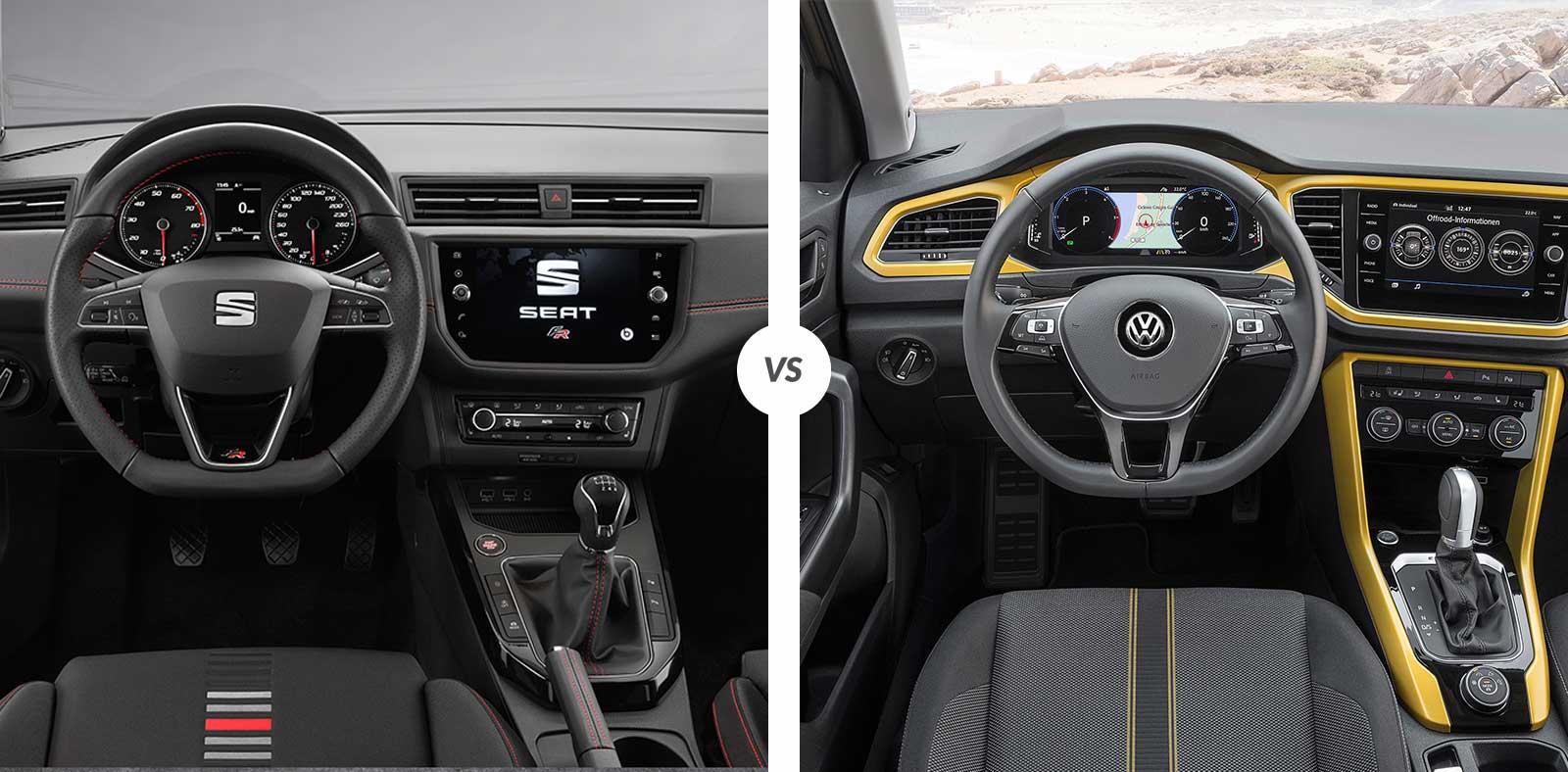 Comparativa seat arona vs volkswagen t roc carnovo for Interior volkswagen t roc