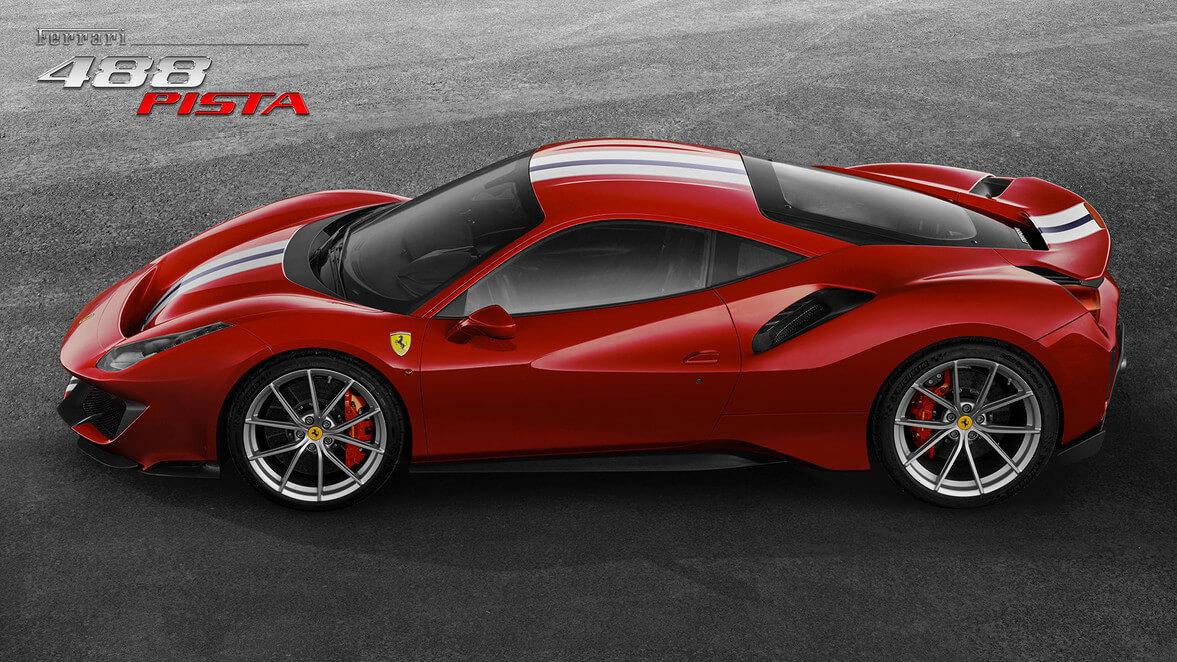 Ferrari 488 Pista lateral