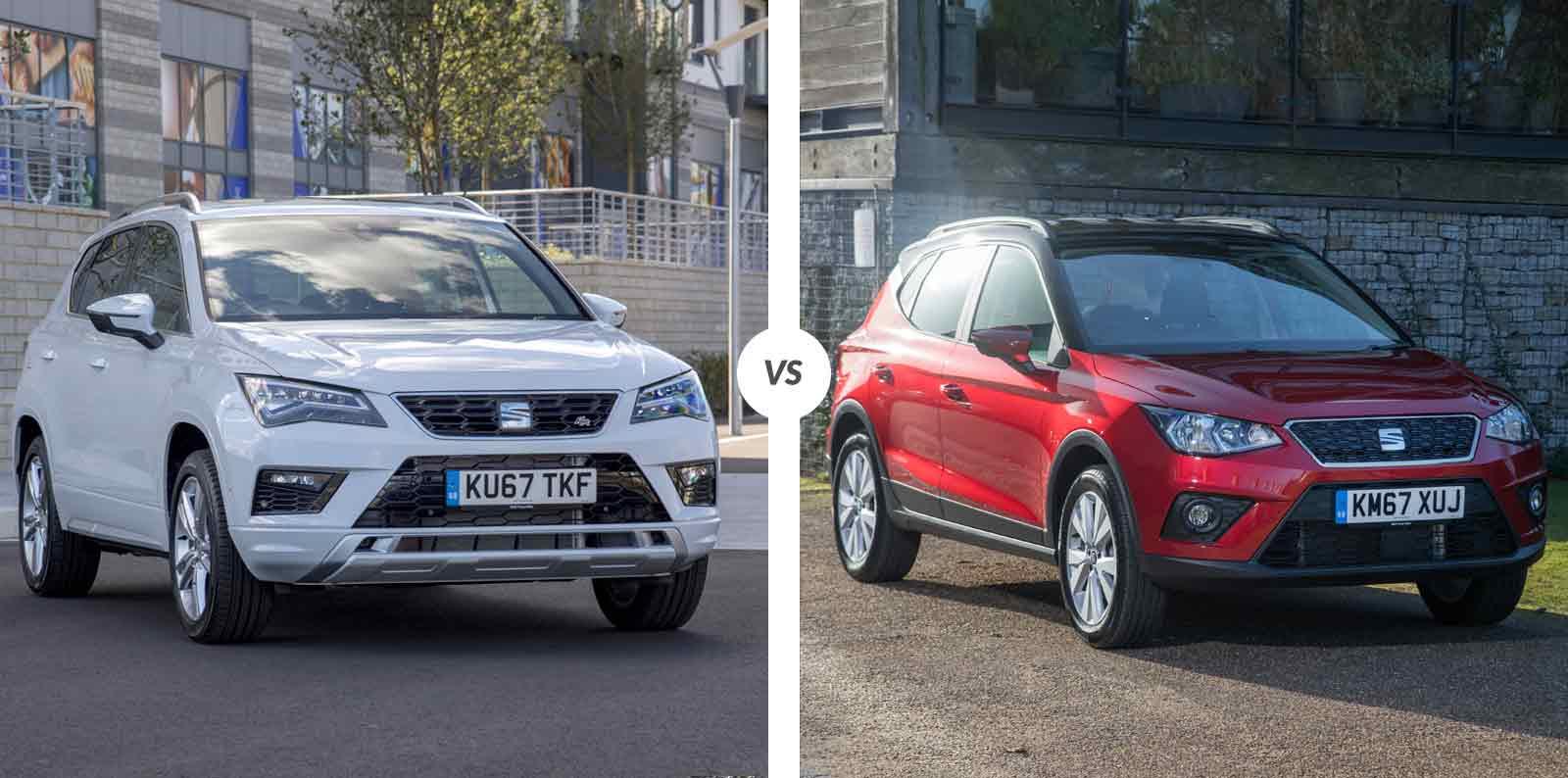 Crossover Vs Suv >> Comparativa: SEAT Ateca vs SEAT Arona | Carnovo