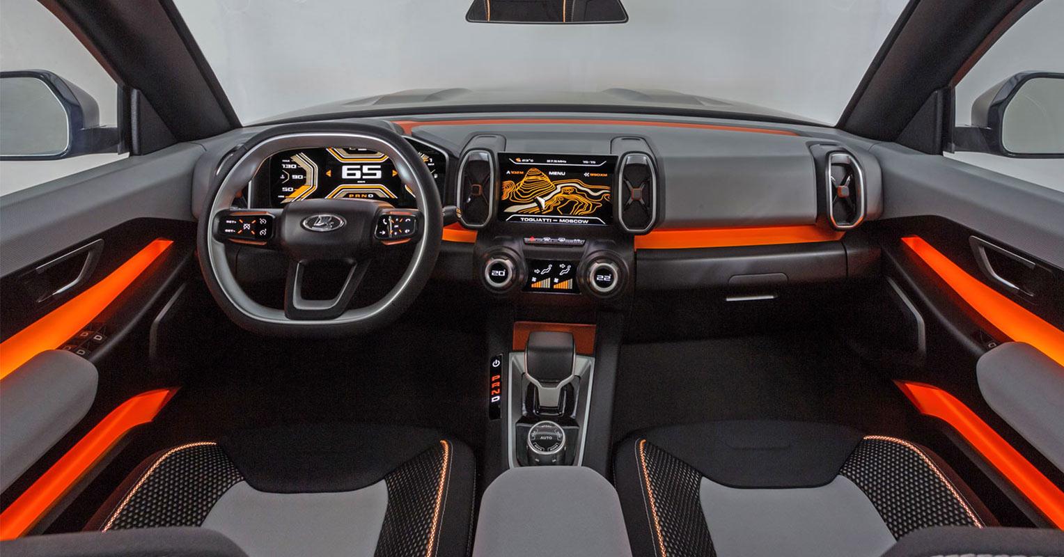 Interior del futuro Lada 4x4 prototipo