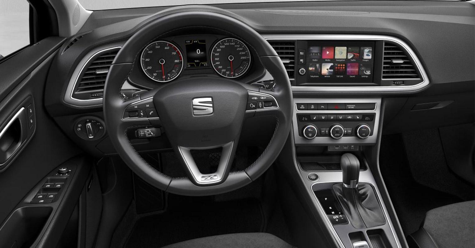 Interior del SEAT León 2019