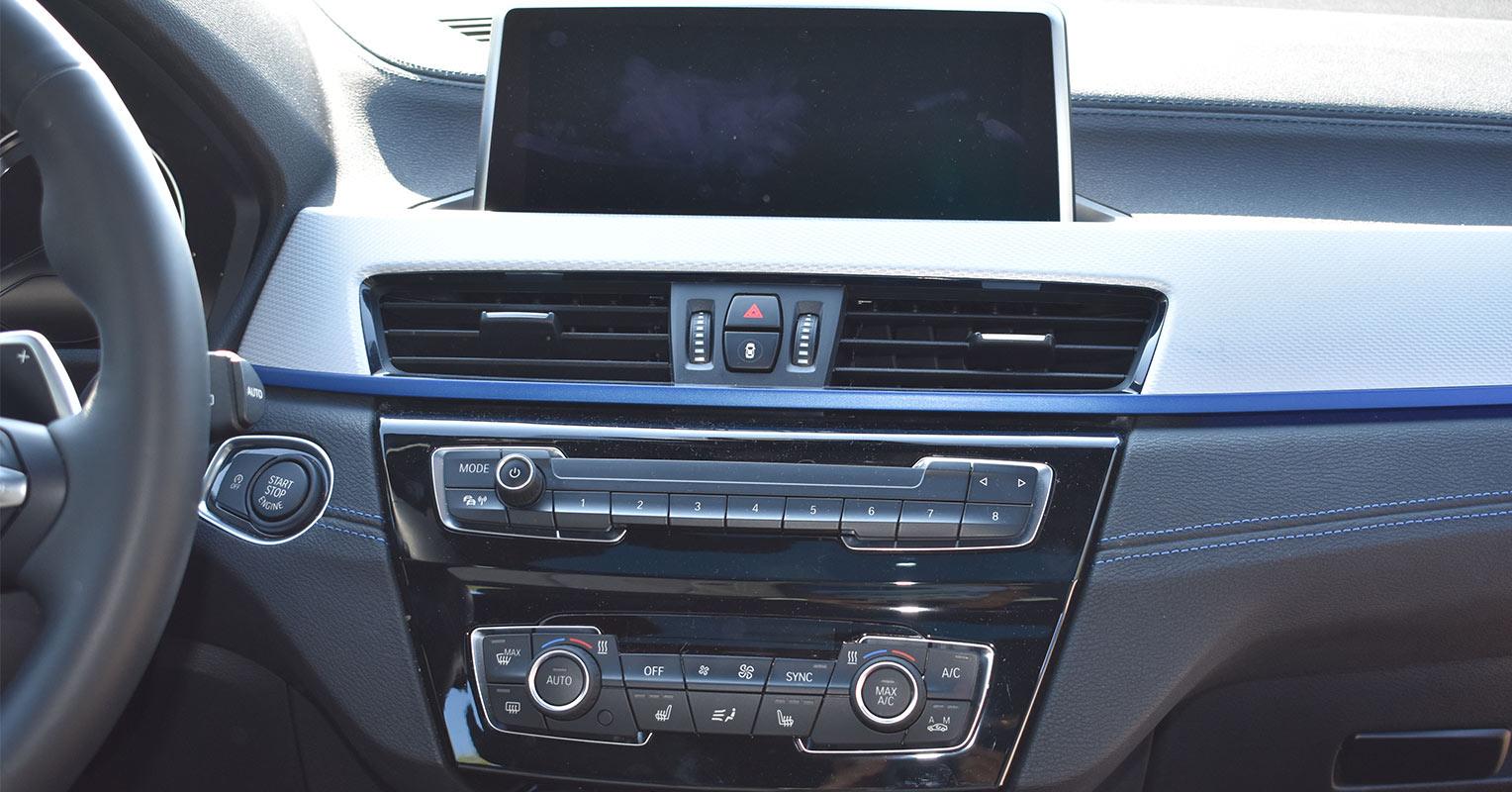 Consola central del BMW X2