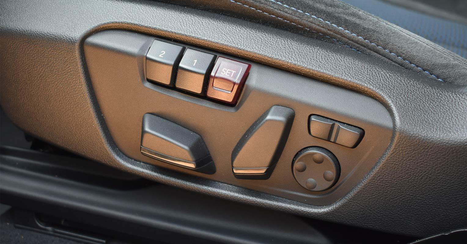 Regulación de los asientos del BMW X2