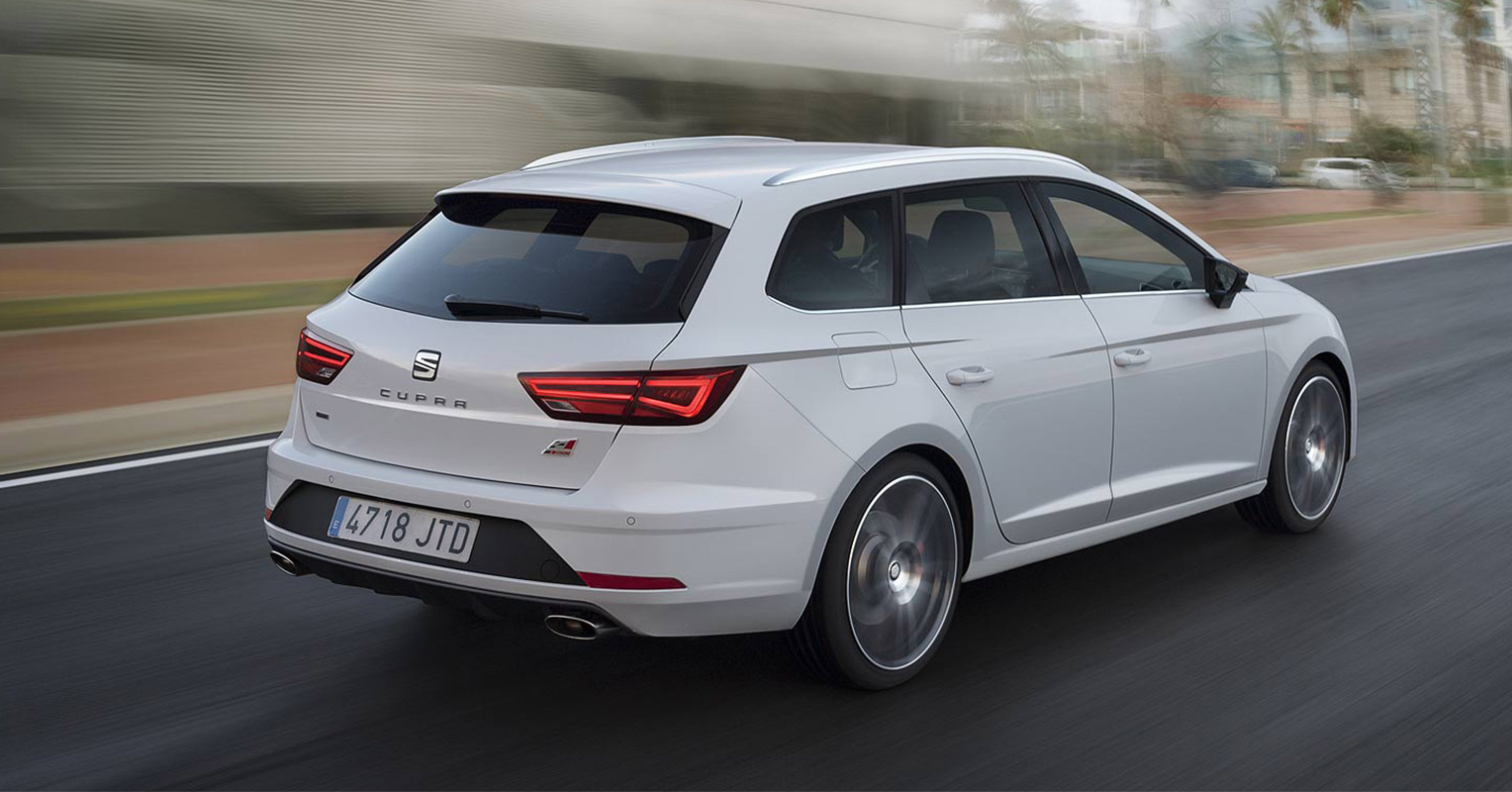 Trasera del SEAT León ST