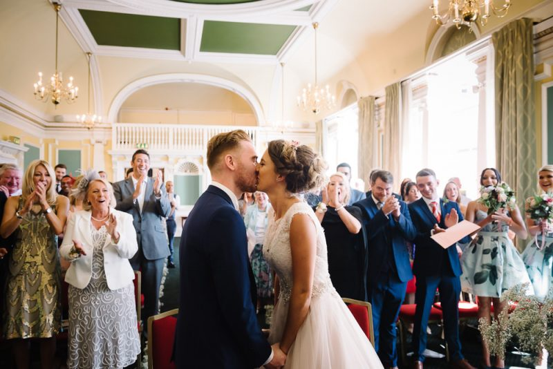 a first kiss at Hackney town Hall