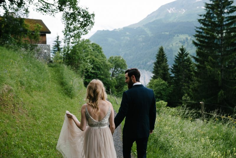 Mountain wedding Switzerland