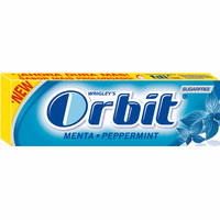 Orbit chicles sabor peppermint de 14g.
