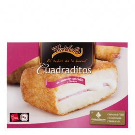 Fridela cuadraditos jamon queso de 300g.
