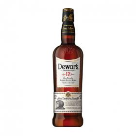 White Label whisky escoces reserva dewar s 12 años de 70cl.