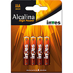 Power inves high pila super alcalina aaalr03 1 5 voltios blister por 4 unidades