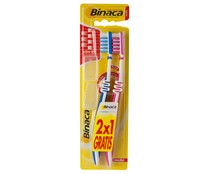 Binaca cepillo dental medio duplo interdental por 2 unidades