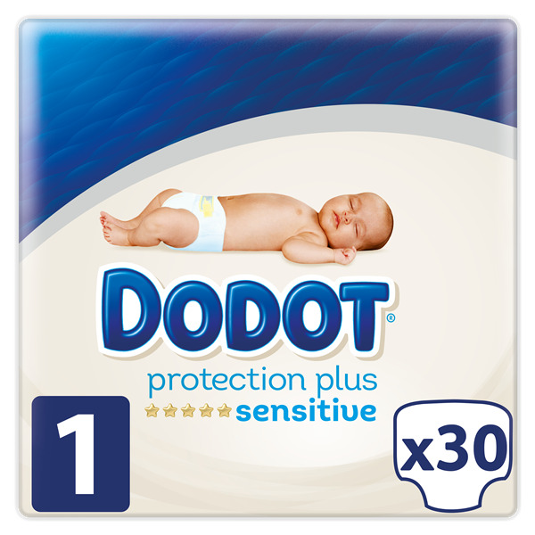Dodot Sensitive dodot protection plus sensitive pañales talla 1 (2-5kg) 30 pañales 30 en paquete