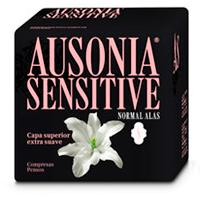 Ausonia compresa absorcion normal ultra plegada alas sensitive 20