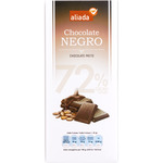 Aliada chocolate negro 72% cacao tableta de 100g.