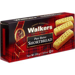 Walkers shortbread fingers galletas mantequilla estuche de 250g.
