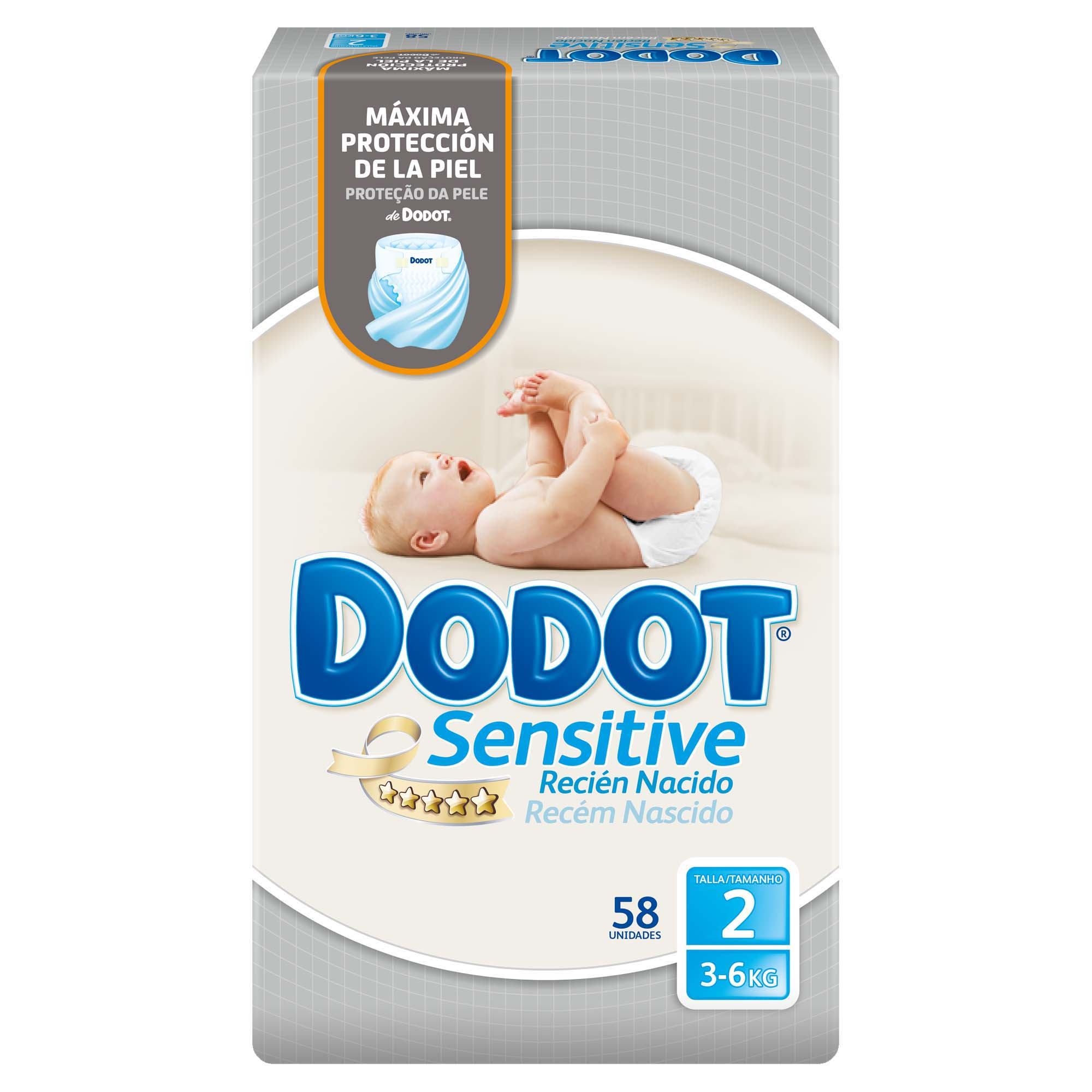 Dodot Sensitive pañal talla 2 sensitive 58
