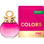 Pink benetton colors eau toilette natural femenina de 80ml. en spray