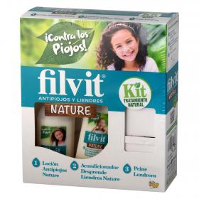 Filvit kit tratamiento natural antipiojos liendres