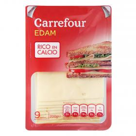 Carrefour queso edam holland en lonchas de 200g.