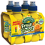 Fruit Shoot refresco tropical sin gas de 20cl. por 4 unidades en botella