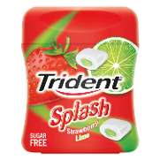 Trident chicles rellenos fresa lima sin azucar