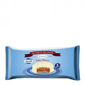 Mardel alfajor chocolate blanco de 160g.