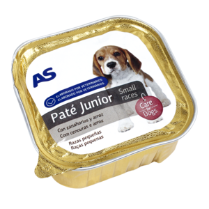 As as alimento para perros junior con carne de 150g. en tarrina