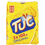 Tuc break crackers pack ahorro 3 de 100g. en paquete
