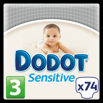Dodot Sensitive dodot protection plus sensitive pañales talla 3 (5-10 kg) 222 pañales 74
