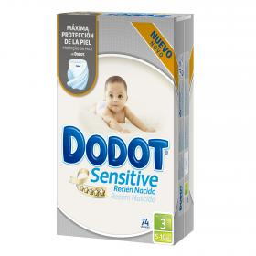 Dodot Sensitive pañal recien nacido talla 3 sensitive 74